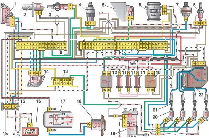 Колодки электронного блока