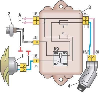 Электродвигатель вентилятора.