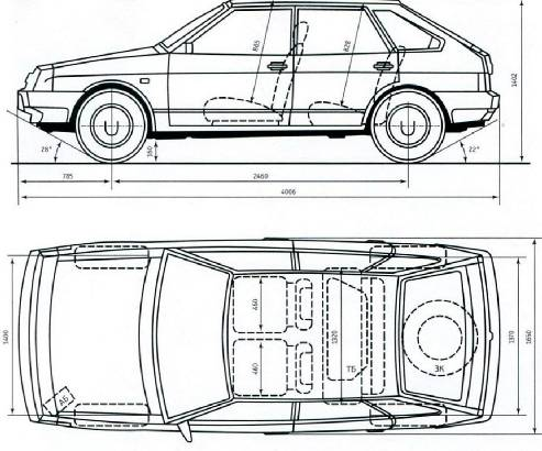 Схема автомобиля ВАЗ-2109 «