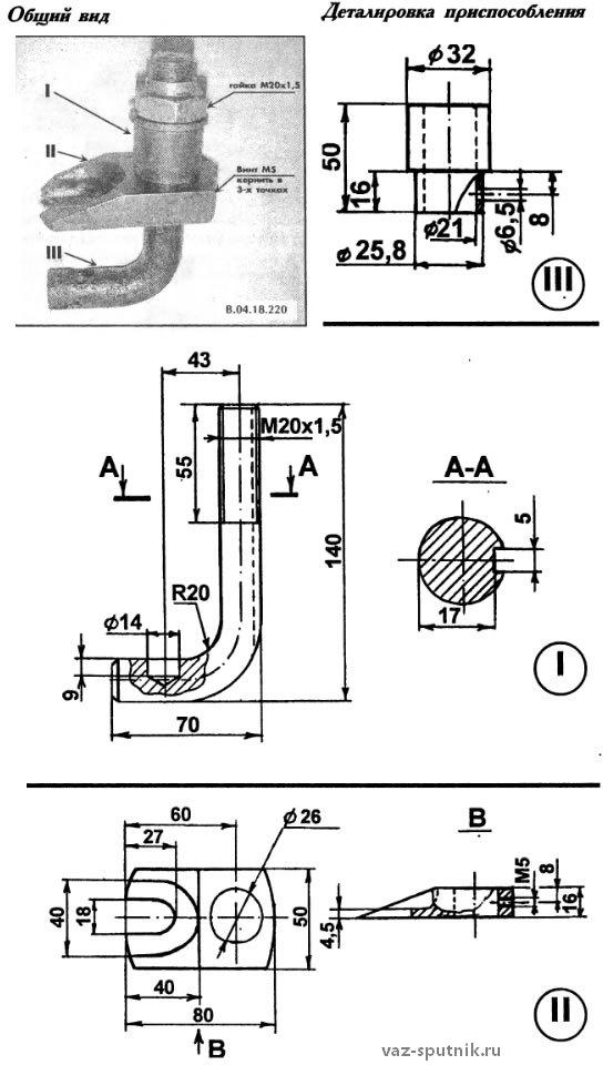 Как сделать съемник рулевых наконечников своими руками 901